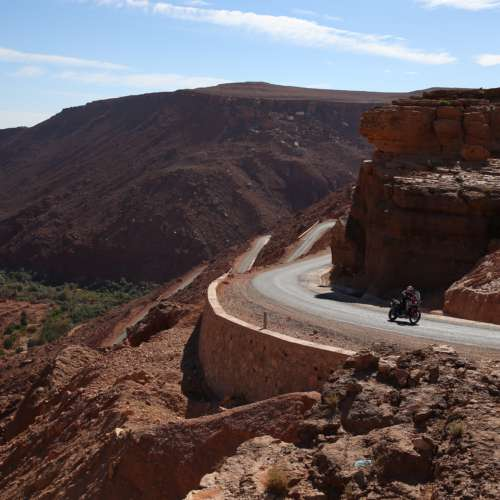 Two different approaches to adventure riding