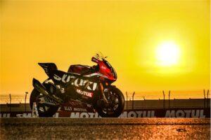 Yoshimura SERT Motul - picture of motorcycle in sunset