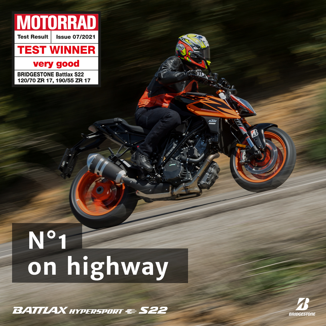 Bridgestone Battlax S22 MOTORRAD Test Winner